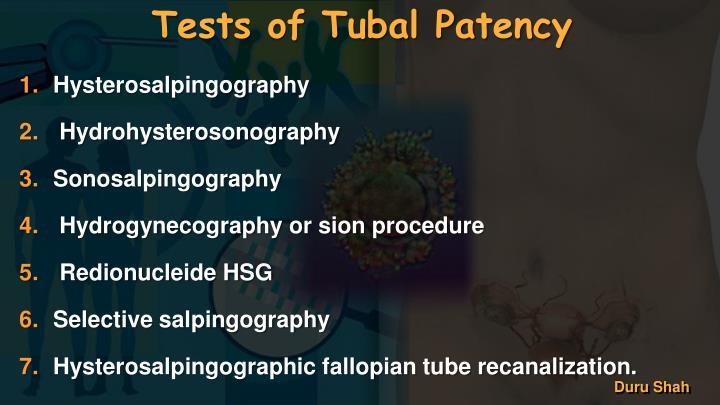Tests of Tubal Patency