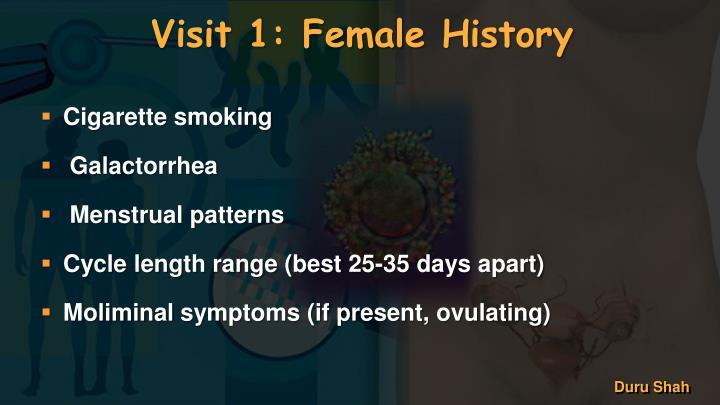 Visit 1: Female History