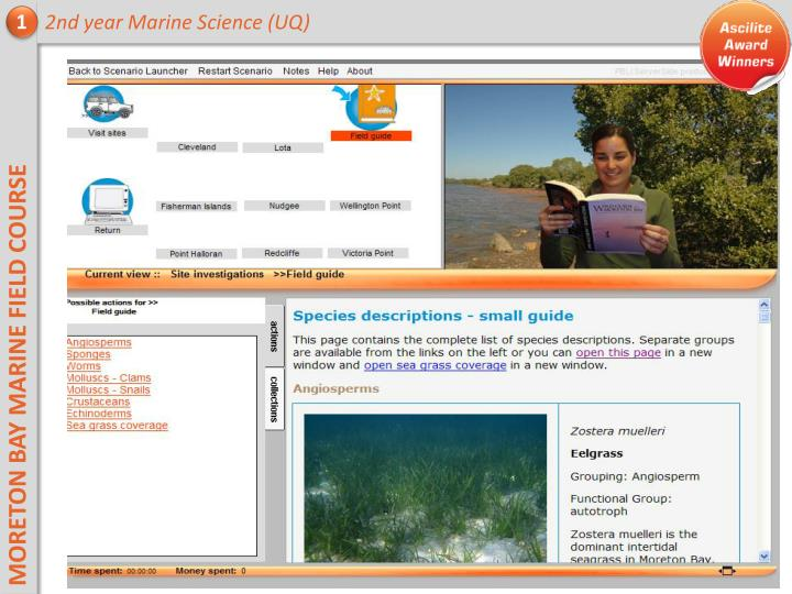 2nd year Marine Science (UQ)