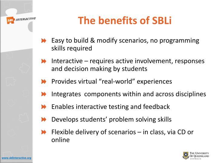 The benefits of SBLi