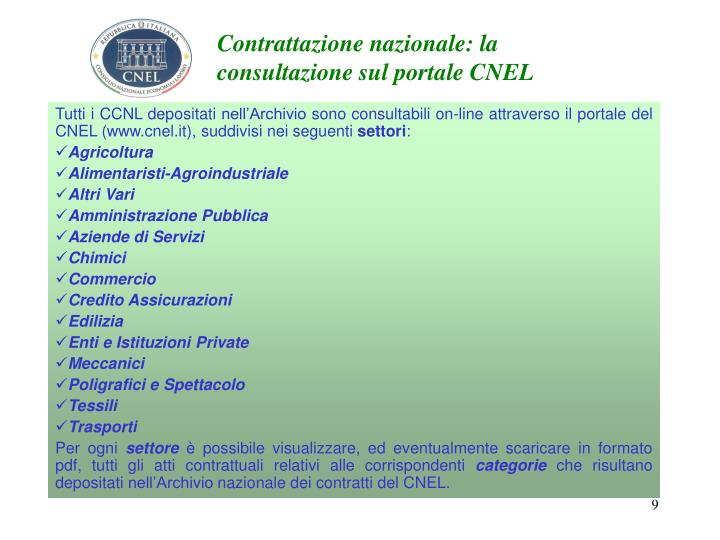Contrattazione nazionale: la consultazione sul portale CNEL