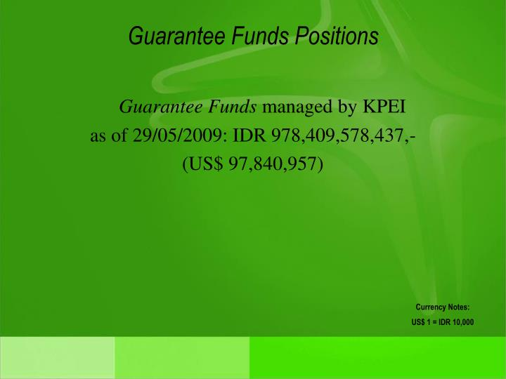 Guarantee Funds Positions