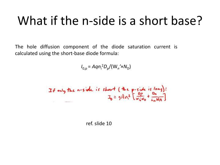 What if the n-side is a short base?
