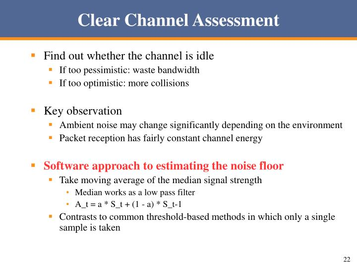 Clear Channel Assessment