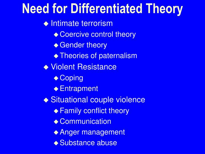 Need for Differentiated Theory