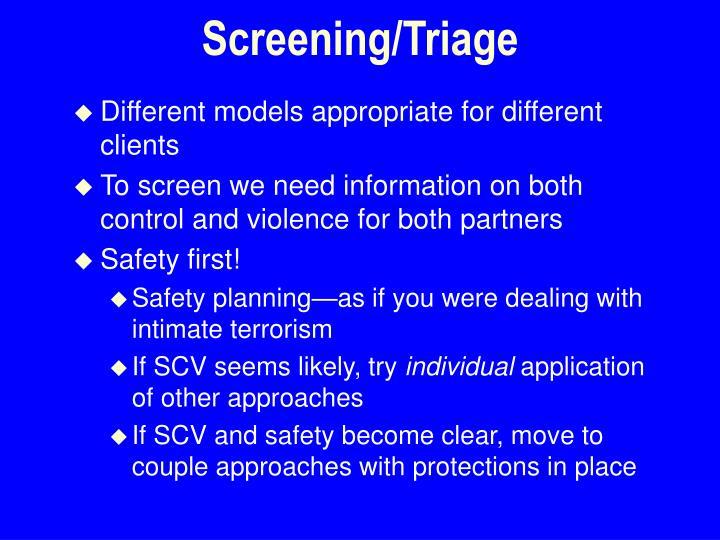 Screening/Triage