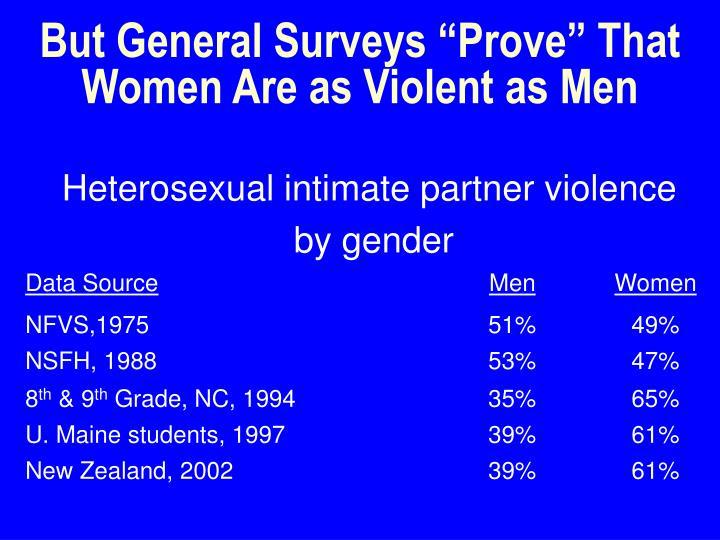 """But General Surveys """"Prove"""" That Women Are as Violent as Men"""