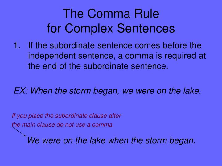 The Comma Rule