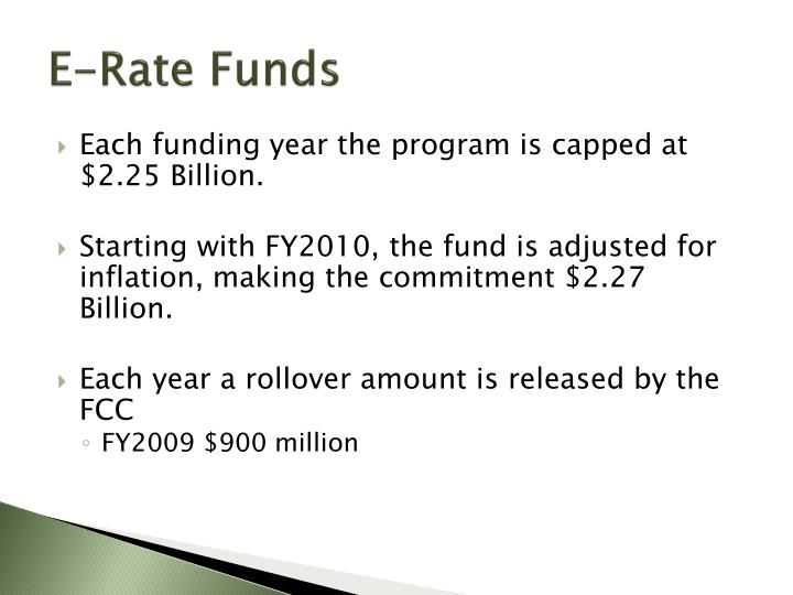 E-Rate Funds