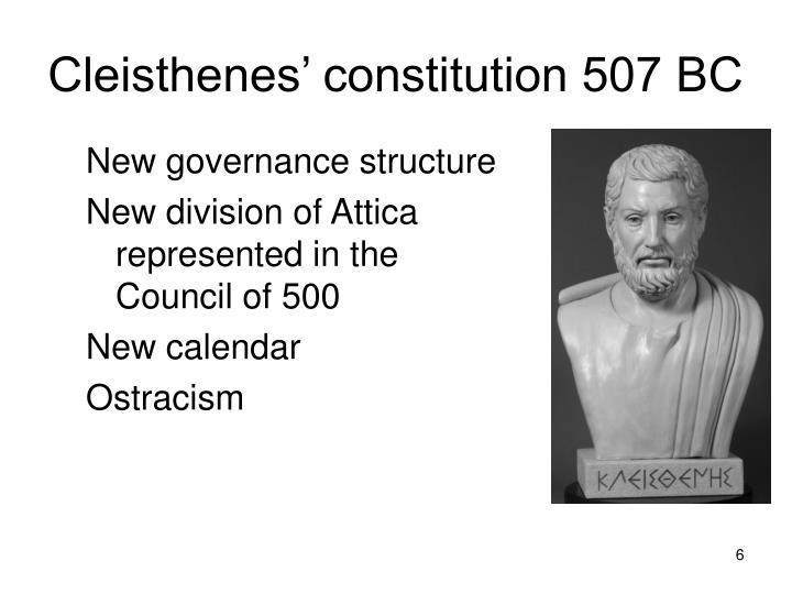Cleisthenes' constitution 507 BC