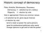 historic concept of democracy