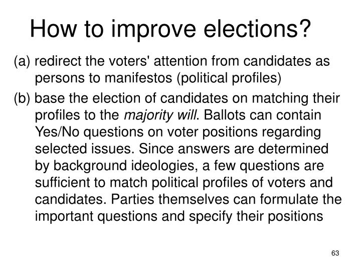 How to improve elections?
