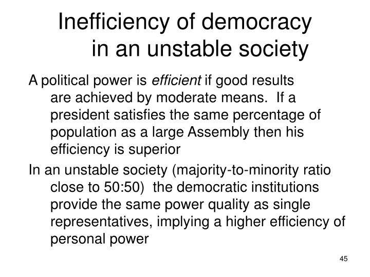 Inefficiency of democracy