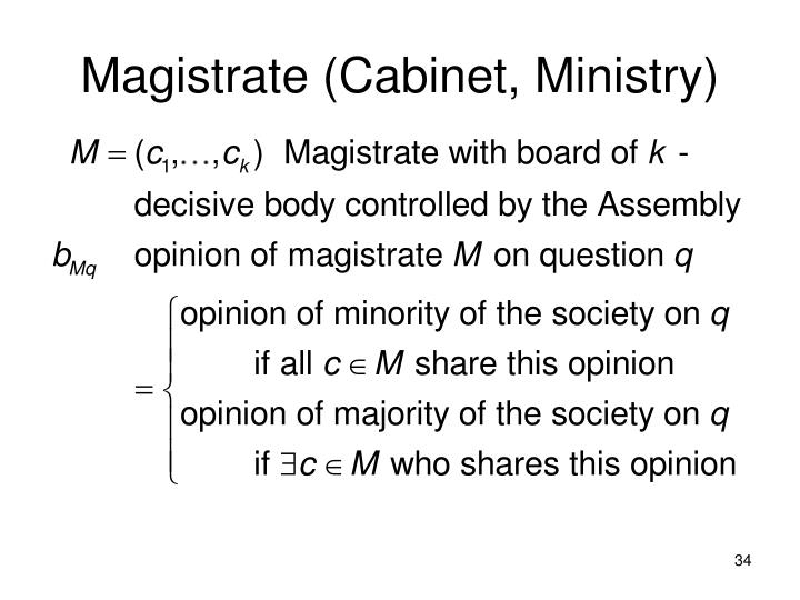 Magistrate (Cabinet, Ministry)