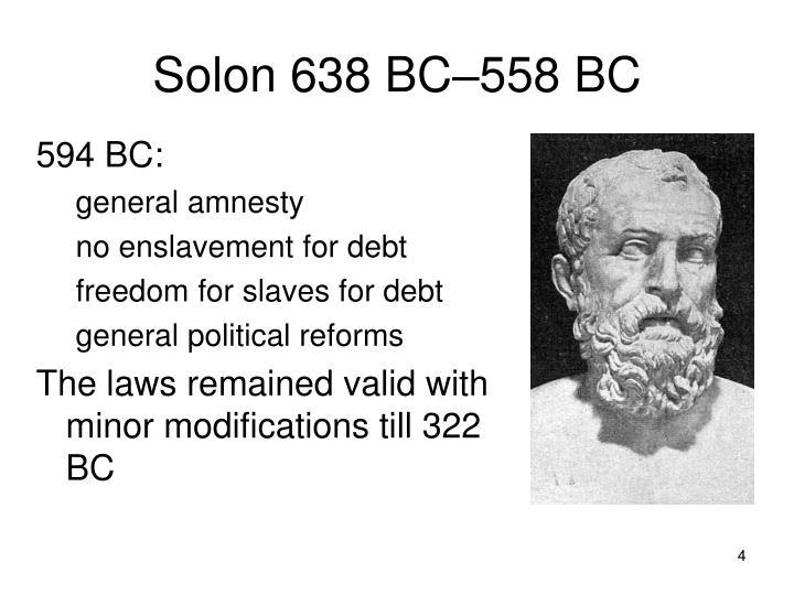 Solon 638 BC–558 BC