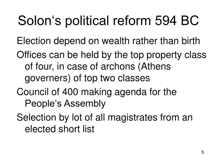 Solon's political reform 594 BC