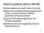 solon s political reform 594 bc