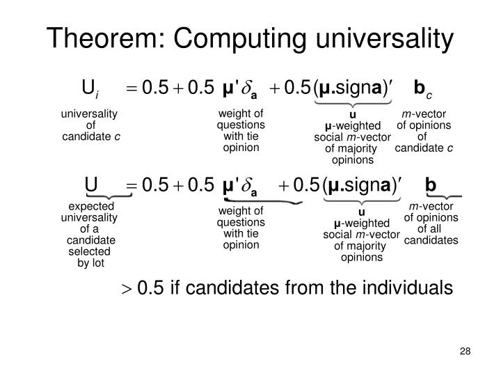 Theorem: Computing universality