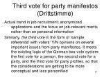 third vote for party manifestos drittstimme