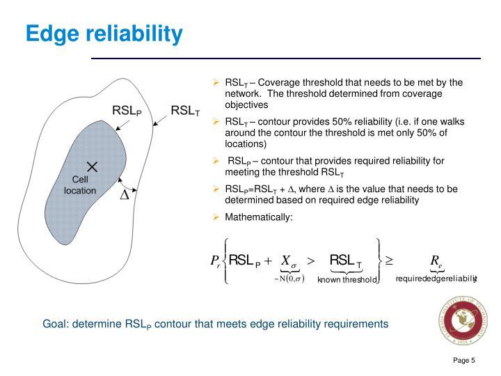 Edge reliability
