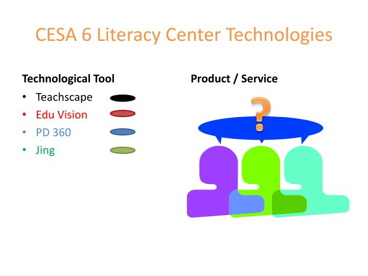 CESA 6 Literacy Center Technologies