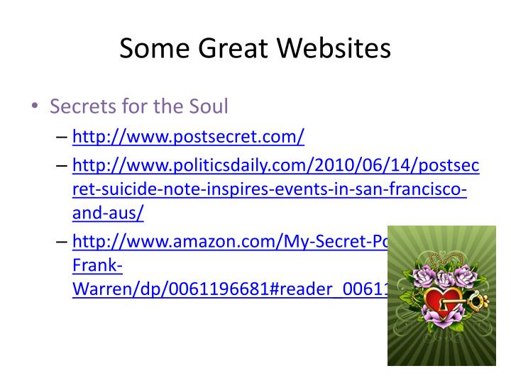 Some Great Websites