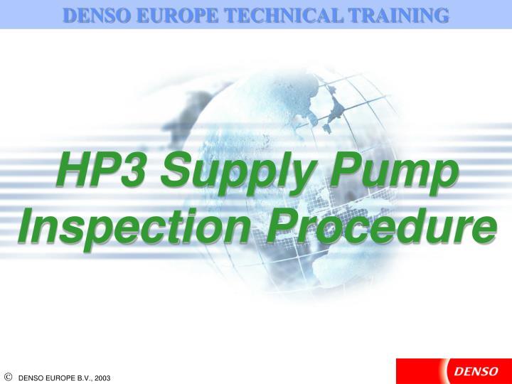 DENSO EUROPE TECHNICAL TRAINING