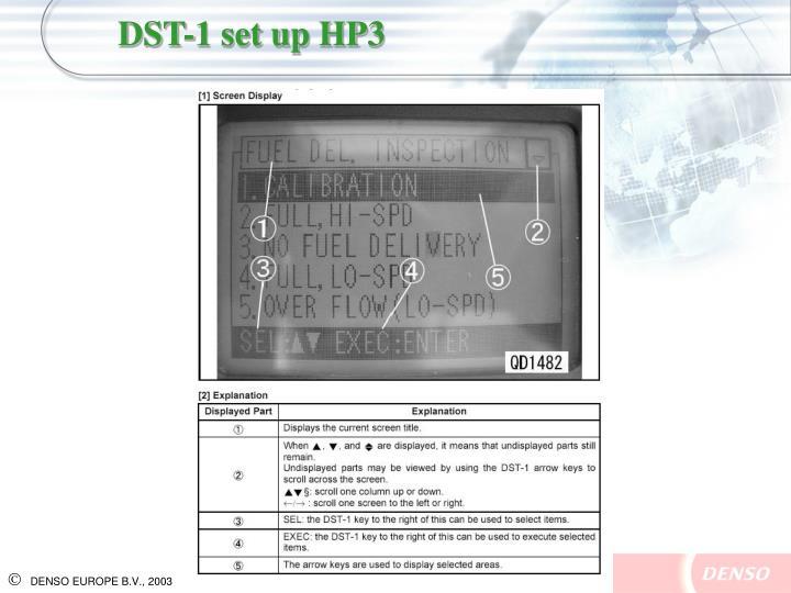 DST-1 set up HP3