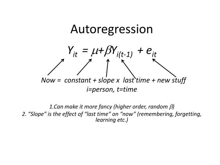 Autoregression