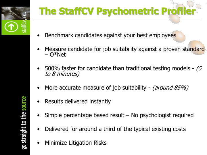 The StaffCV Psychometric Profiler