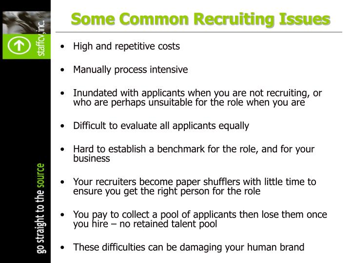 Some Common Recruiting Issues