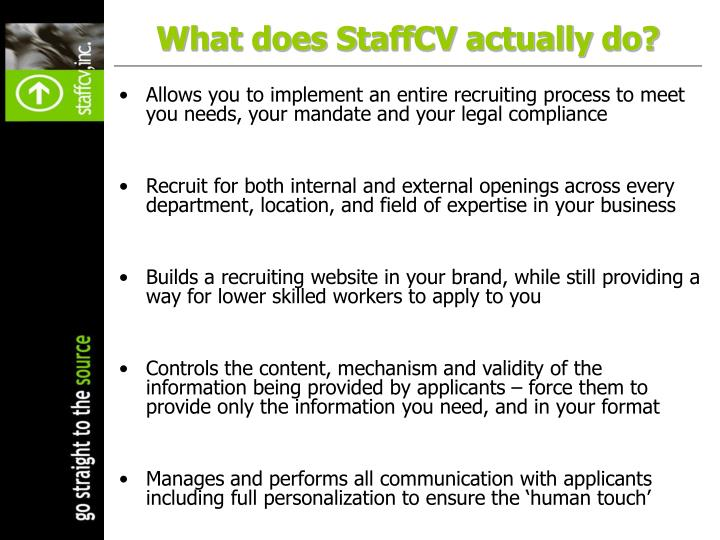 What does StaffCV actually do?
