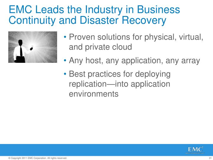 EMC Leads the Industry in Business Continuity and Disaster Recovery