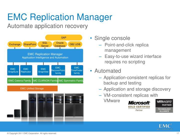 EMC Replication Manager