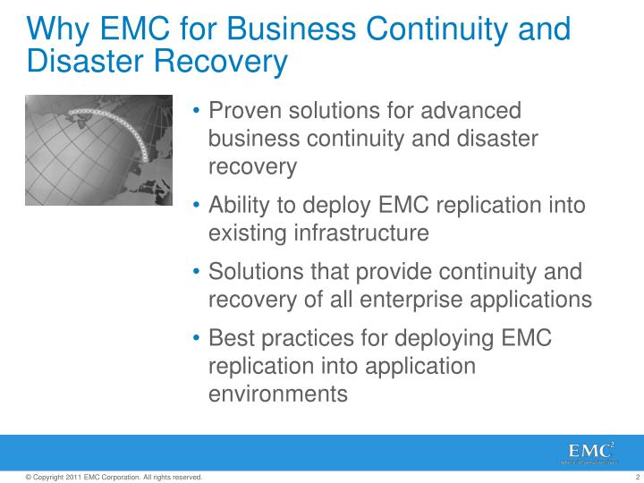 Why EMC for Business Continuity and Disaster Recovery