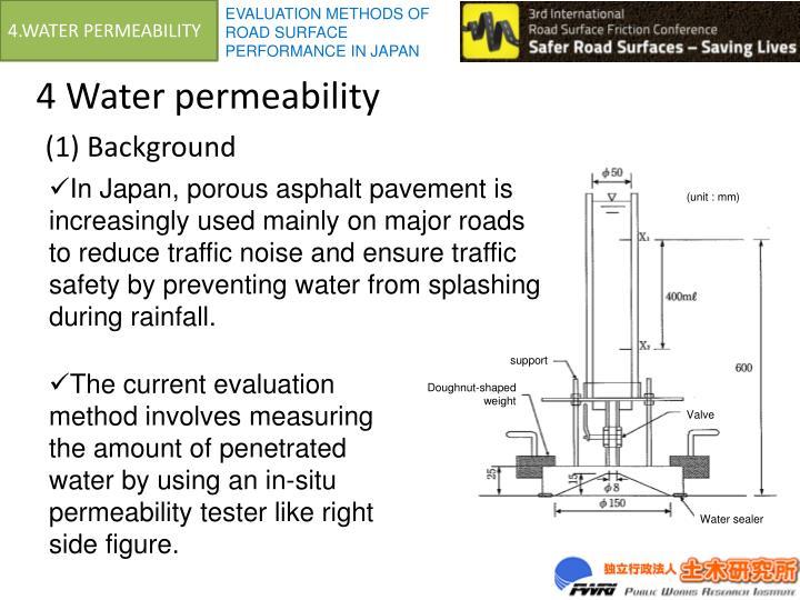 4.WATER PERMEABILITY