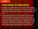 four kinds of resources
