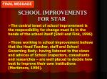 school improvements for star