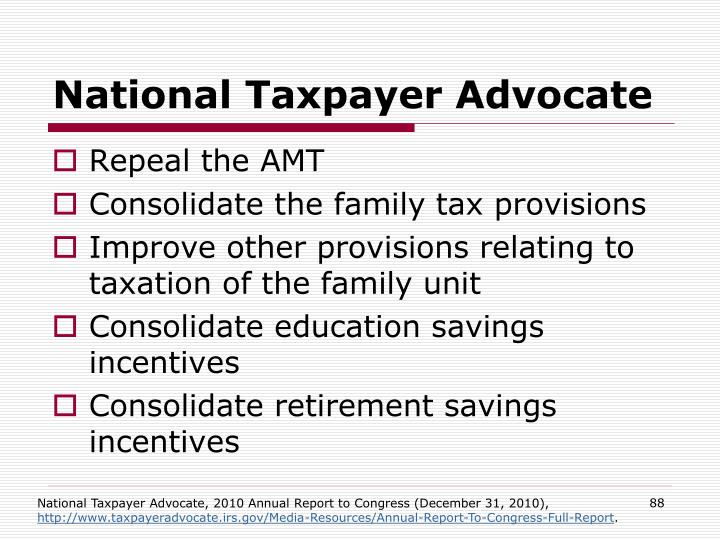 National Taxpayer Advocate