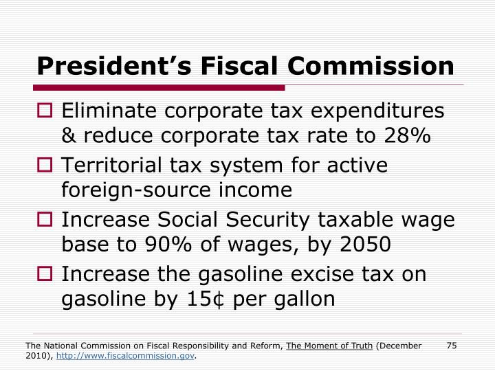 President's Fiscal Commission