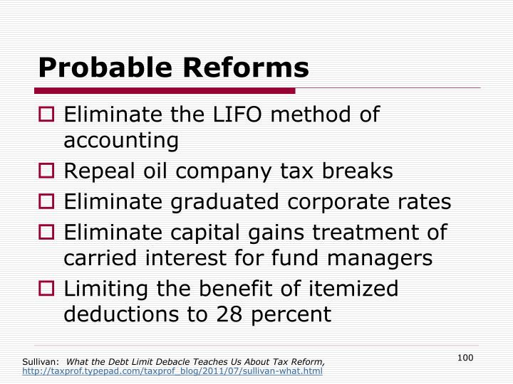 Probable Reforms