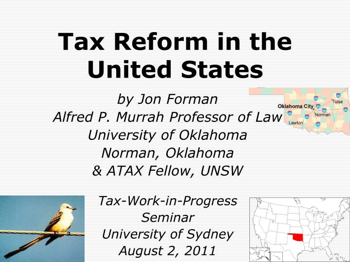 Tax Reform in the United States