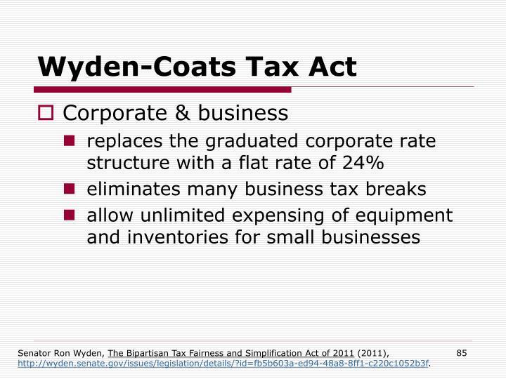 Wyden-Coats Tax Act