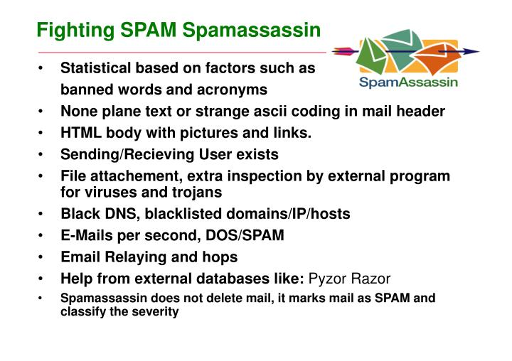 fighting spam spamassassin