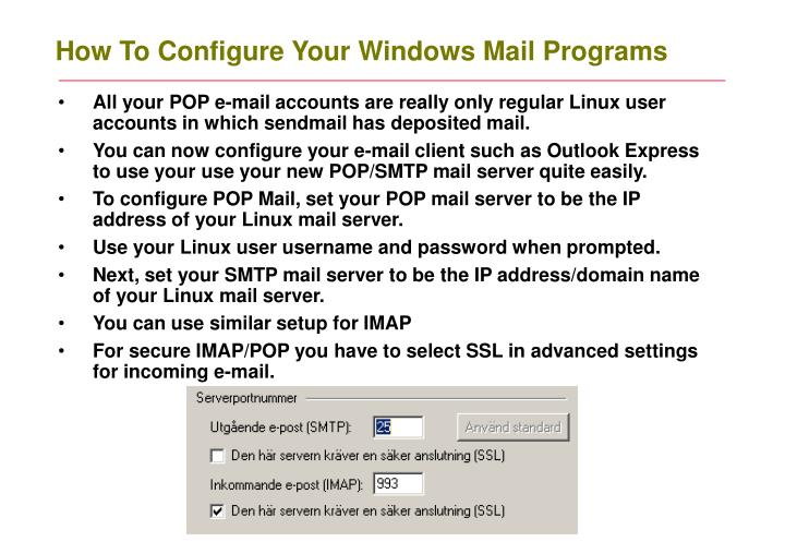 How To Configure Your Windows Mail Programs