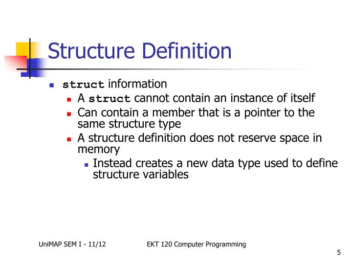 Structure Definition