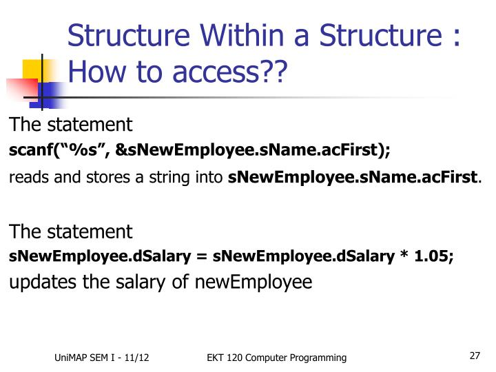 Structure Within a Structure : How to access??