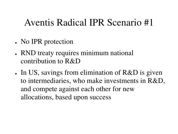 Aventis Radical IPR Scenario #1