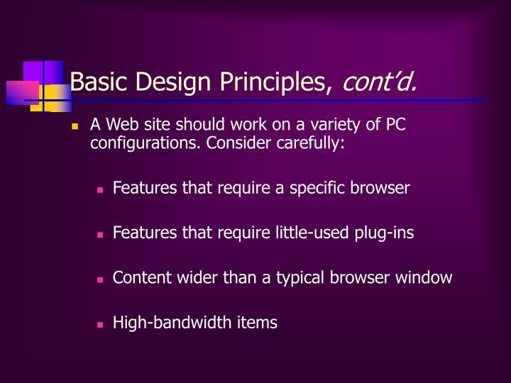 Basic Design Principles,