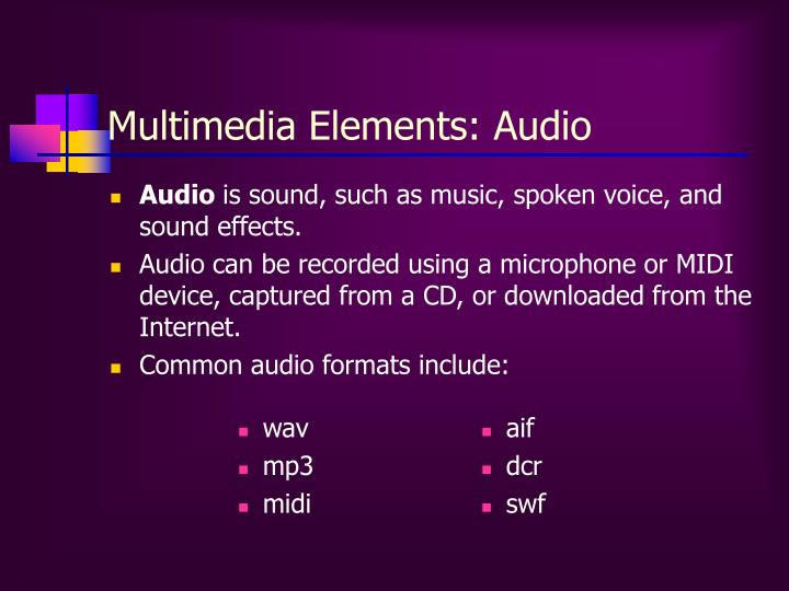 Multimedia Elements: Audio